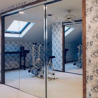 Mirrored Closet Doors & Home Gyms | Creative Mirror u0026 Shower pezcame.com